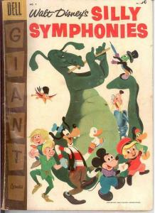 SILLY SYMPHONIES 7 GOOD DELL GIANT  1957 COMICS BOOK