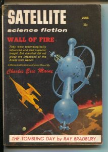 Satellite Science Fiction 6/1958-Ray Bradbury-Sam Moskowitz-pulp-sci-fi-VG