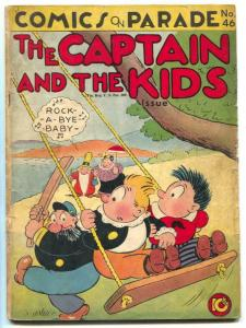 Comics On Parade #46 1944- Captain and the Kids G