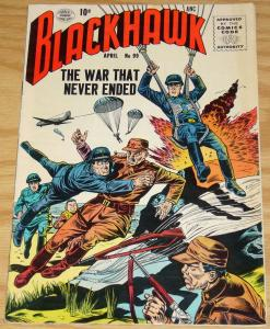 Blackhawk #99 FN- april 1956 - silver age dc comics - war that never ended