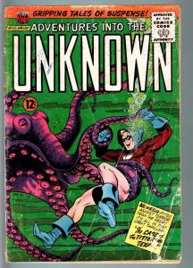 ADVENTURES INTO THE UNKNOWN #157-HORROR/SCI-FI-SILVER AGE-MAGIC AGENT FR/G