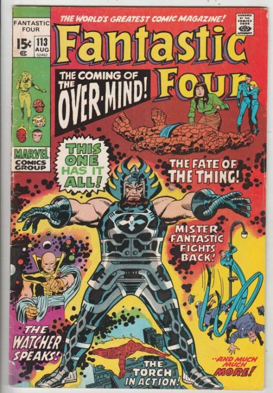 Fantastic Four #113 (Aug-71) FN Mid-Grade Fantastic Four, Mr. Fantastic (Reed...