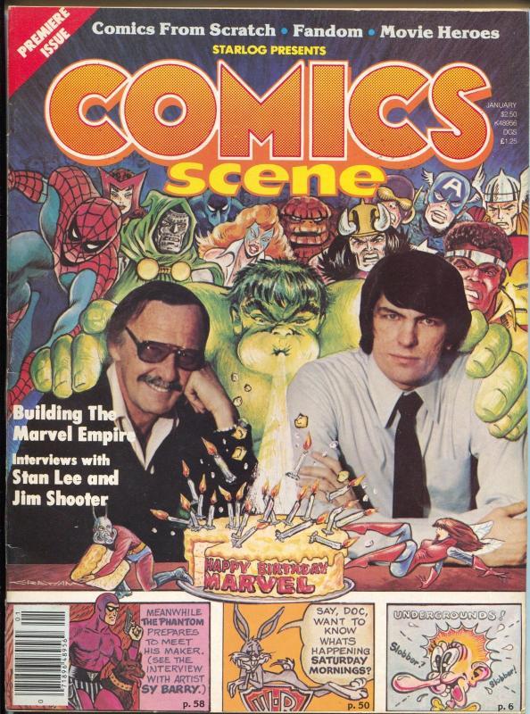 Comics Scene #1 1/1981-Starlogs-1st issue-Stan Lee-Jim Shooter-Phantom-VF