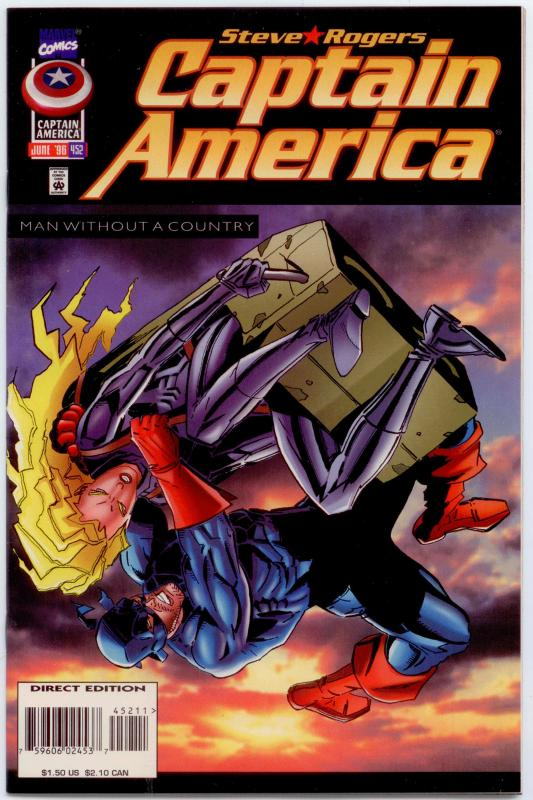 Captain America #452 NM 9.4  2nd appearance in NEW SUIT!