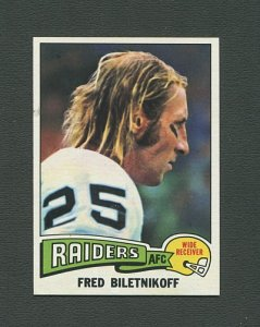 1975 Topps Football /  Fred Biletnikoff #405 / NM-MT