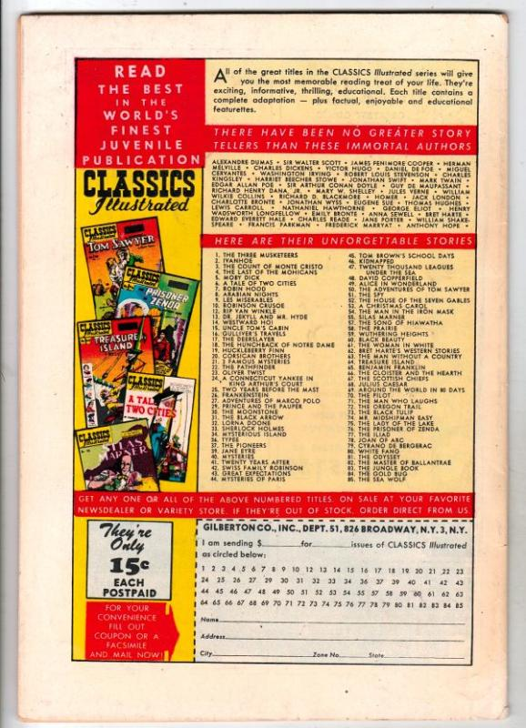 Classics Illustrated #76 (Jul-51) VF/NM High-Grade