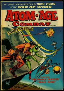 Atom-Age Combat #5 1953- Flying Saucer cover- St John Golden Age G
