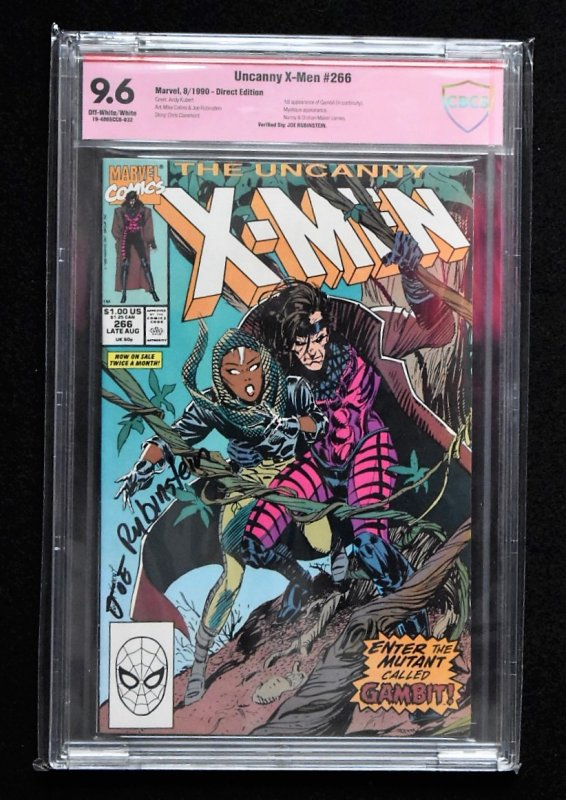 Uncanny X-men #266 (Marvel, 1990) CBCS 9.6 SS Joe Rubinstein