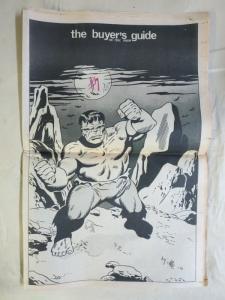 BUYERS GUIDE #7 writing on cover Hulk cvr, Sept 1971