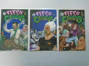 Flesh Crawlers set #1-3 6.0 FN (1993 Kitchen Sink)