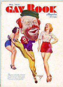 Gay Book Magazine 1937   E. K. Bergey  Cover Art Illustration  Vintage Ads more