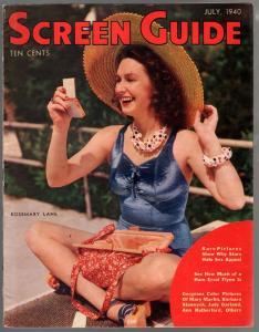 Screen Guide 7/1940-Rosemary Lane-Deanna Durbin-Ronald Reagan-VF-