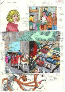 TEEN TITANS #7-PRODUCTION ART-COLOR GUIDE PG 10-JIMINEZ VG