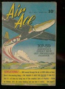 AIR ACE V.2 #8 1945-STREET & SMITH-AMELIA EARHART-WW II VG