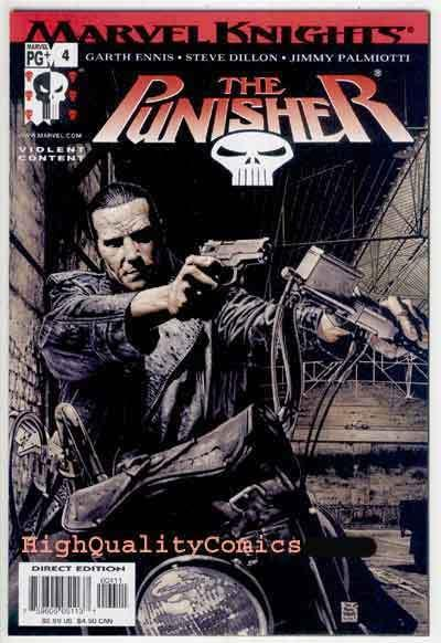 PUNISHER #4, NM+, Garth Ennis, Palmiotti, 2001, Steve Dillon, Tim Bradstreet