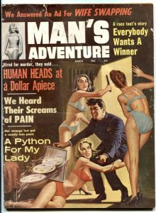 Man's Adventure March 1964- anti-cop cover- wife swapping G/VG