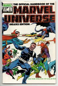 Official Handbook of the Marvel Universe Deluxe Edition #4 (1986)
