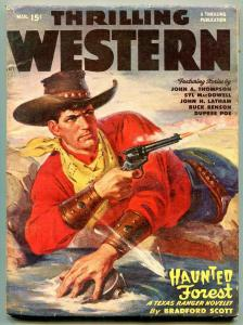 Thrilling Western Pulp March 1949- Haunted Forest FN