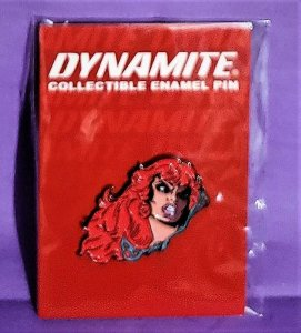 45th Anniversary RED SONJA Comic Trading Card Lithograph Pin (Dynamite, 2016)!