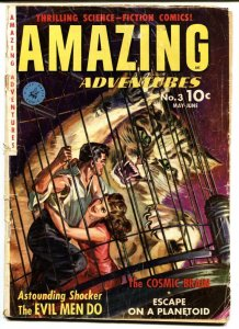 Amazing Adventures #3 GIANT CAT Saunders cover- Pre-code Horror G