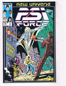 PSI-FORCE (1986) #2 Marvel Comic Book New Universe Team HH4 AD38