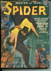 Spider Pulp June 1941- Benevolent Order of Death-Raphael De Soto VG-