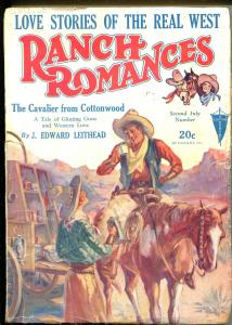 RANCH ROMANCES 07/02/1930-CLAYTON-WESTERN PULP-RARE-good