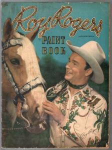 Roy Rogers Paint Book #1158 1948-Whitman-photo cover-large size-G