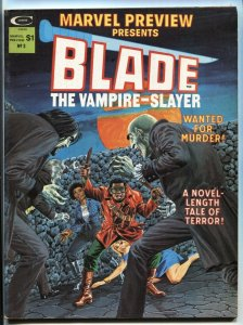 MARVEL PREVIEW #3 First appearance of Afari, Blade's mentor 1975  - VF