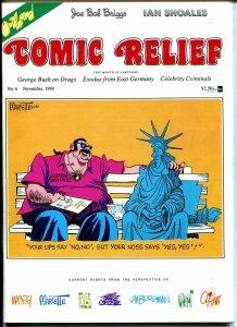 Comic Relief #6 1989-Calvin & Hobbes-political cartoons-Toles-Doonesbury-FN/VF