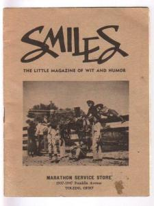 Smiles 1940's-Little Magazine of Wit & Humor-giveaway promo-rare-VG