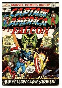 CAPTAIN AMERICA  #165 comic book-Falcon-Yellow Claw-1973