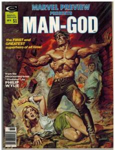MARVEL PREVIEW 9 VF- Winter 1976 Man God
