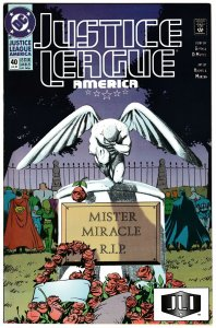 Justice League America #40 (DC,1990) FN+