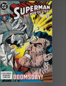 Superman Man of Steel #19 (DC, 1993) NM