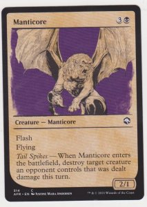 Magic the Gathering: Adventures in the Forgotten Realms - Manticore(Showcase)