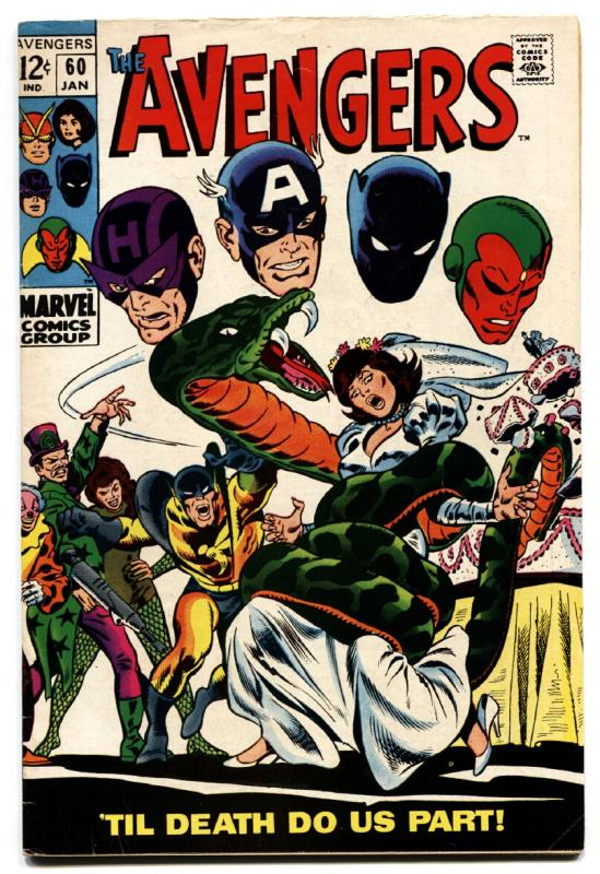 THE AVENGERS #60 1969 comic book THOR IRON MAN CAPT AMERICA MARVEL
