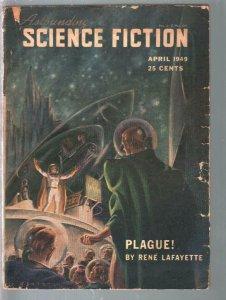 Astounding Science Fiction 4/1949-L Ron Hubbard as Rene La Fayette-pulp ficti...