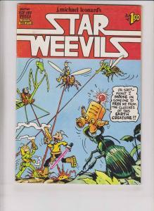 Star Weevils #1 FN (1st) print - rip of press - underground - j. michael leonard