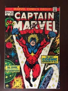 CAPTAIN MARVEL #29 VF! SIGNED JIM STARLIN! THE ULTIMATE THANOS COLLECTION!