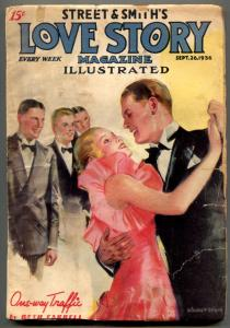 Love Story Pulp September 26 1936- Modest Stein cover- One Way Traffic VG