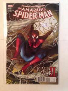 Amazing Spider-man 3 Variant Near Mint Civil War 2 Tie In