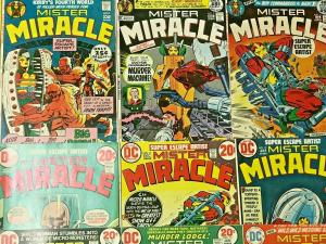 MISTER MIRACLE#1-18 VG-VF LOT 1971 JACK KIRBY DC BRONZE AGE COMICS