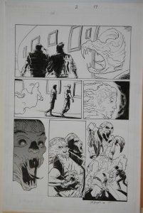 BO HAMPTON original art, ETERNAL WARRIOR #2 pg 17, 22x17, Valiant, Fist & Steel