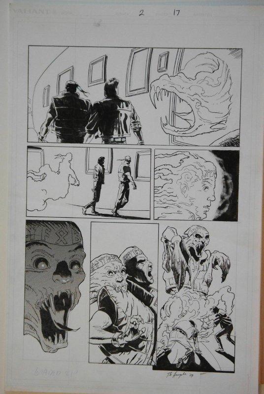BO HAMPTON original art, ETERNAL WARRIOR #2 pg 17, 22x17, Valiant, Fist & Steel
