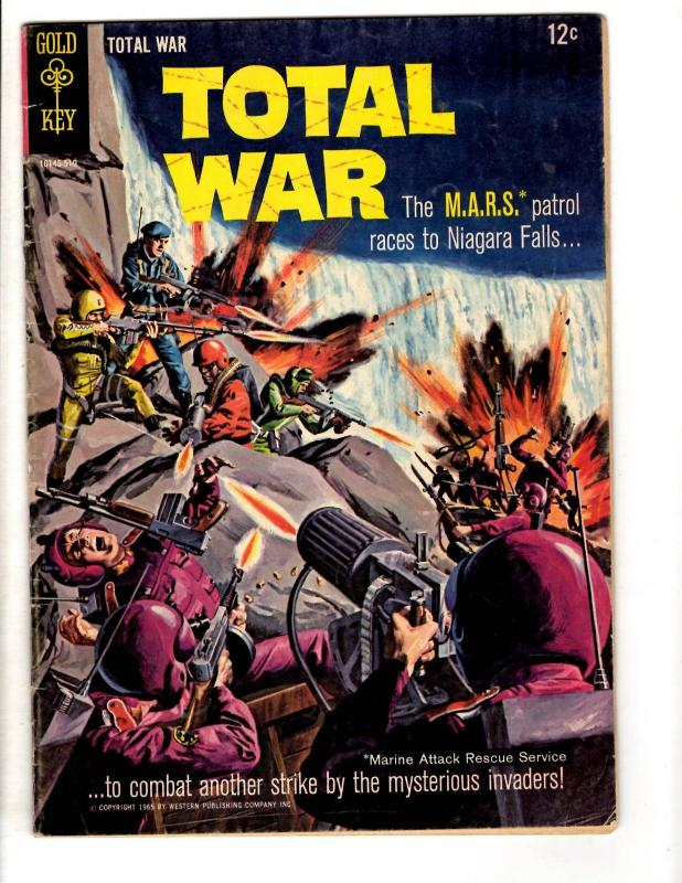 11 Gold Key Comics Total War 2 Mars Patrol 3 5 10 Bottom Sea 3 6 7 10 13 15 JL32