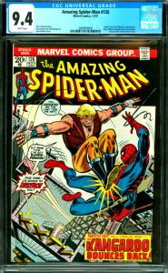 Amazing Spider-Man #126 CGC Graded 9.4 Human Torch and Kangaroo Appearance