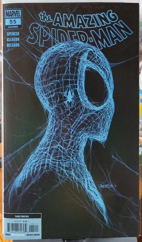 Amazing Spider-Man #55 LR NM 3rd print Blue CVR variant