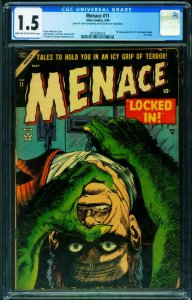 Menace #11 CGC 1.5-1954-Atlas Pre-Code Horror 2073382012