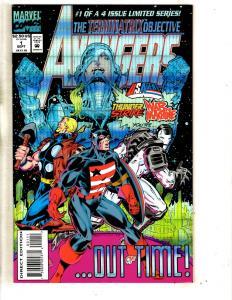 Lot Of 4 Avengers The Terminatrix Objective Marvel Comic Books # 1 2 3 4 J293